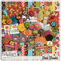 Fall is here!! | Bella Gypsy Designs Digital Scrapbooking Kit