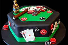Give your gambling groom a poker themed cake.