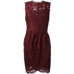 Dolce & Gabbana lace wrap dress ($2,390) ❤ liked on Polyvore featuring dresses, red, wrap dresses, red wrap dress, red lace dresses, red evening dresses and summer cocktail dresses