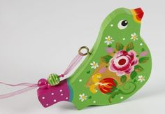 Handpainted Wooden Bird Decoration. $23,00, via Etsy.