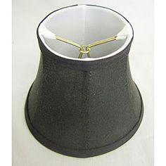 Round Silk Black Lamp Shade