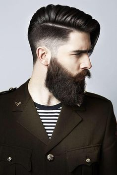 Hairstyles For Men With Beards Amusing Pinrobert B On Fade Haircuts With Beard  Pinterest  Beard Care