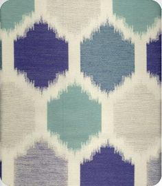Mercury P6323 Blue Ikat Fabric