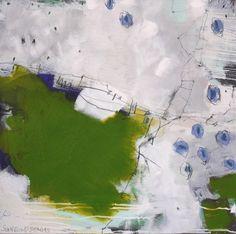 Abstrakte Kunst in den Farben grün, türkis und mint, von Daniela Schweinsberg, Frankfurt am Main. Abstrakt, kraftvoll, gestisch. Acryl, Mixed Media, Öl, Spray Paint. Contemporary modern art, abstract art, street art.