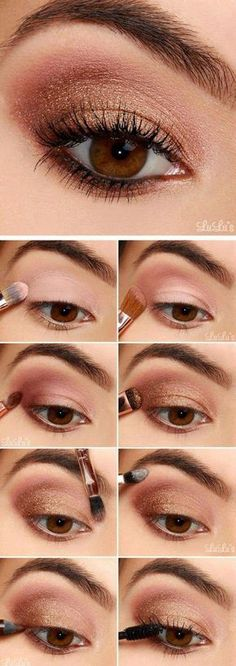 How-To: Rose Gold Eyeshadow Tutorial How-To: Rose Gold Eyeshadow Tutorial . - How-To: Rose Gold Eyeshadow Tutorial How-To: Rose Gold Eyeshadow Tutorial . Rose Gold Eyeshadow, Makeup Eyeshadow, Makeup Brushes, Bronze Eyeshadow, How To Eyeshadow, Eyeshadow Makeup Tutorial, Glitter Makeup, Eyebrow Makeup, Party Makeup Tutorial