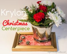Krylon Christmas mystery box revealed: a floral Christmas centerpiece. Click through to see all the fun details.