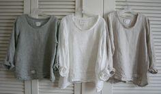Weißes Leinenhemd / Leinen Gaze 'Sara' von BreatheAgainClothing