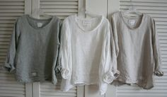 Linen 'Sara' Shirt / Lagenlook Tunic / by BreatheAgainClothing