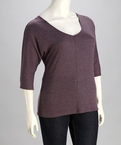 e197b0dad62 Take a look at this Purple V-Neck Sweater - Plus by Chris  amp