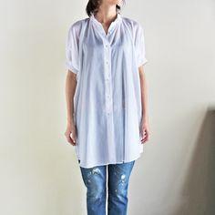 MINSSPAI - OVERSIZED SHIRTS DRESS (WHITE)