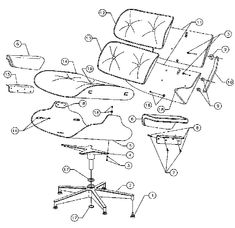 670 CHAIR, SCHEMATIC, 1971  Charles and Ray Eames