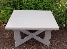 "Vintage Shabby Distressed Sage End Table ""Smart Sophia"" #ReFabWest"