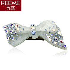 South Korea headdress bow hairpin top folder cross clamp spring clamp rhinestones