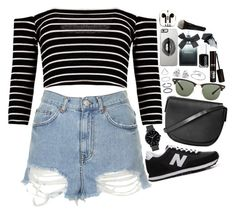 """""""❤"""" by polinachaban ❤ liked on Polyvore featuring Topshop, New Balance, The Horse, Ray-Ban, Lipsy, Essie, Torrid, Georgini, PhunkeeTree and Gorgeous Cosmetics"""