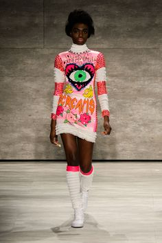 The Best Fall 2015 Runway Pieces From NYFW: Day 1 - This wild dress at Di$count Universe/VFiles