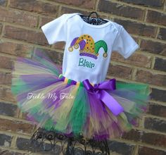 Mardi Gras Outfit-My First Mardi Gras Tutu Outfit-Mardi Gras Pageant Outfit-Mardi Gras Birthday Outf - Pinfashion Jester Hat, Mardi Gras Outfits, Mardi Gras Parade, Tutu Outfits, Baby Tutu, Birthday Tutu, Christmas Pajamas, Toddler Outfits, Pageant