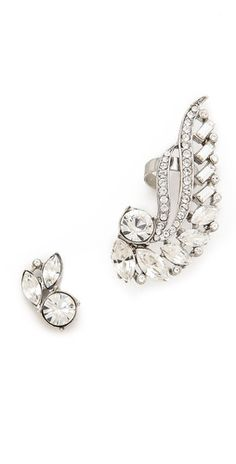 Ben-Amun Asymmetrical Crystal Earrings | SHOPBOP