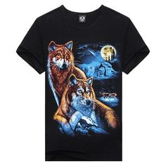 Hot Sale Brand New Fashion Summer Men T-shirt 3d Print Nightmare Tiger Short-Sleeved Casual Tops Tees Men's Plus Size Shirts