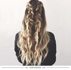 Que as tranças de boxeadora (ou boxer braids) estão bombando muito, todo mundo já sabe! Mas podemos ver diversas versões diferentes por aí, como essa desconstruída, meio solta e bem messy. A ideia é fazer a trança no estilo que mais combina com você! Gostam da inspiração? #cabelo #penteado #hair #hairstyle #beleza #beauty #trança #braid #boxerbraid #estilo #inspiração #messy #lnl #looknowlook