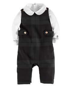 Ralph Lauren Childrenswear Infant Boys' Tartan Coverall & Bodysuit Set - Sizes 3-9 Months | Bloomingdale's