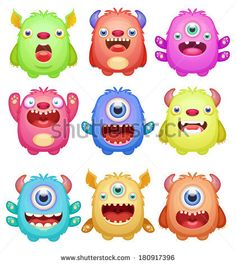 Find Set Cute Monsters stock images in HD and millions of other royalty-free stock photos, illustrations and vectors in the Shutterstock collection. Thousands of new, high-quality pictures added every day. Doodle Monster, Monster Drawing, Monster Face, Cute Monsters Drawings, Cartoon Monsters, Cute Drawings, Bacteria Cartoon, Monster Clipart, Baby Motiv
