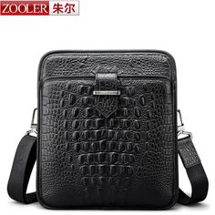 ZOOLER Unique design real leather bags for men Famous brand cross body bag High quality Business Casual men briefcase 90026