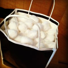 For your second year wedding anniversary( which is cotton) use cotton balls instead of tissue paper.