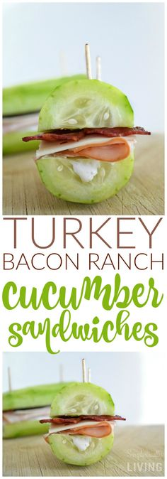 Turkey Bacon Ranch Cucumber Sandwiches Simplistically Living www.lifeasabaltimoregirl.blogspot.com