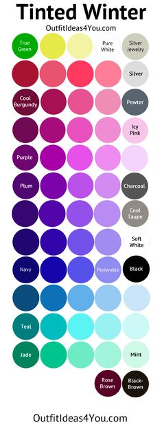 Cool Winter Color Palette (Tinted Winter)