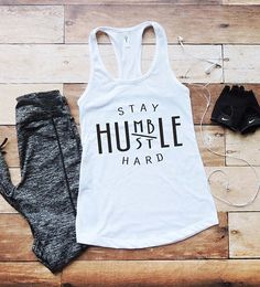 Cute tank! Stay humble, hustle hard! #fitness #clothes #afflink
