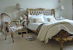 Gold Gilt Button Bed - Sweetpea & Willow London