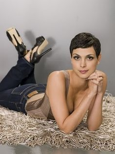 Morena Baccarin - I really love the super short hair on her....