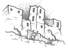 Illustration by Clint Tillman Reid for A Literary Map of Colorado (ISBN 0983671109)