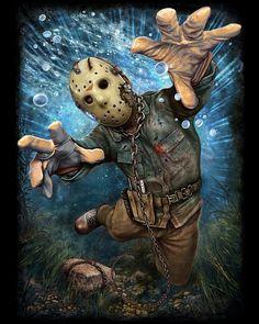 Jason Voorhees, Under Water, Reaching
