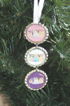 Disney Princess Christmas Tree Bottlecap Ornament by bowsforme, $6.99