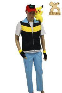 Pokemon Ash Ketchum, Ash Ketchum Kostüm, Ash Pokemon, Ash Costume, Yellow Costume, Cosplay Costumes, Halloween 2014, Halloween Party Costumes, Pokemon Costumes