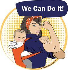 ¡¡Variante porteadora!!     Esta variante es la que definitivamente le va a chiflar a muchas mamás canguro, a las que nos gusta portear a nuestros bebés... así que Yes!! We Can Do It! Somos fuertes!, somos poderosas! somos creadoras y criadoras! somos diosas!     http://www.missselka.com/2013/03/variante-porteadora.html