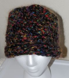 Rainbow Mohair and Merino Cashmere Hat by TexasCottontail on Etsy