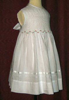 Beaded Hand Smocked - Flower Girl Dress - Joyce