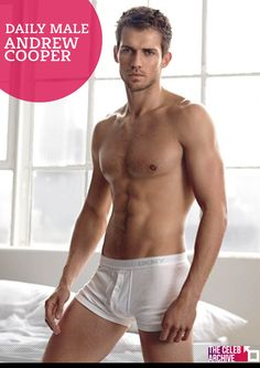 """DAILY MALE - Andrew Cooper born 1981 in England, is a professional runway/print model. 6' 1"""" tall and eyes of blue, Cooper, is famous for appearing in the new Dolce Gabbana campaign photographed by Steven Meisel, Armani Jeans by Aldo Fallai and the latest L'Oreal television commercial with supermodel Claudia Schiffer.  Pictures > http://www.thecelebarchive.net/ca/gallery.asp?folder=/andrew%20cooper/#mya"""