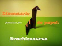 Origami - Papiroflexia. Dinosaurio de papel: Brachiosaurus