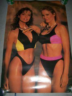 Stephanie Seymour Yellow Bikini Vintage 1990 Supermode...