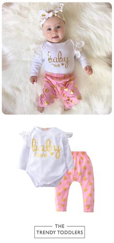 SALE 28% + FREE SHIPPING! SHOP Our Baby Love Girls Set