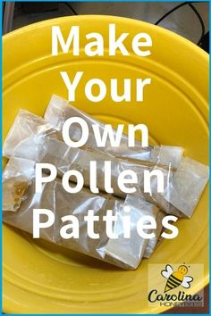 How to make your own pollen patties for your bees. And, why they can help your colony grow strong. Honey Bee Hives, Honey Bees, Bee Feeder, Feeding Bees, Bee Food, Bee Facts, Bee Hive Plans, Beekeeping For Beginners, Bee Supplies
