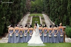 Beautiful bridesmaid picture. I would love to do something like this.