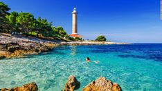 Lighthouse Veli Rat, Dugi otok Veli Rat lighthouse overlooks crystal clear Adriatic Sea waters on the southwestern cape of Dugi otok. You c...