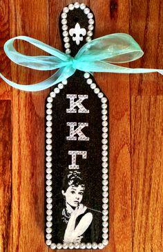 Kappa Kappa Gamma Paddle, KKG Sorority Paddle, Breakfast at Tiffany's Theme