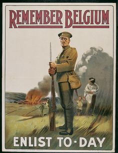 This poster made it so that the massacre of Belgium was enough cause for people to enlist.