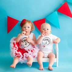 Maddie and Levi's  Thing 1 Thing 2 birthday party  Can't wait :-) We rocked this photo shoot