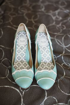 Vintage Mint Bridal HeelsTo find more wedding planning tips, DIY, dress ideas and more GO TO: www.endingiseternity.com
